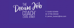 The Dream Job Coach Header with Contact Info