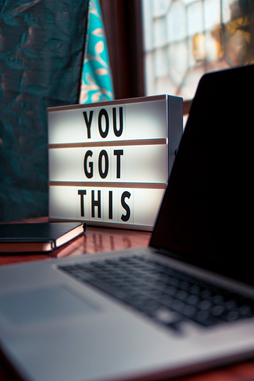 Lightbox with message: YOU GOT THIS